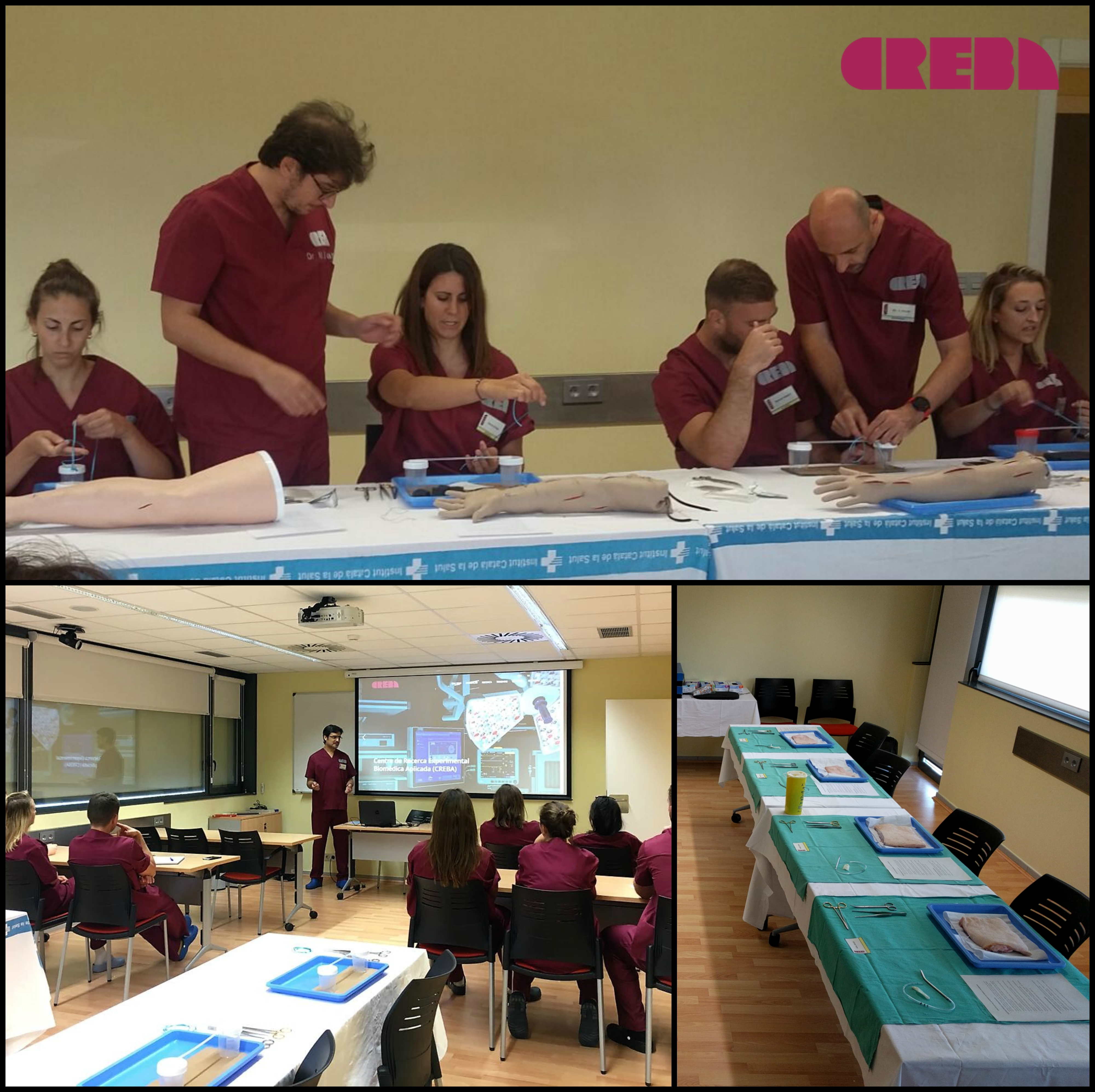 First course on surgical suturing for nurses