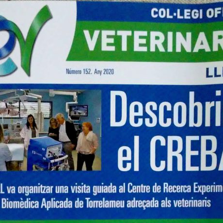 The CREBA, in the first page of the magazine of the College of Veterinarians of Lleida